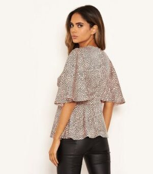 AX Paris Pink Spot Satin Top New Look