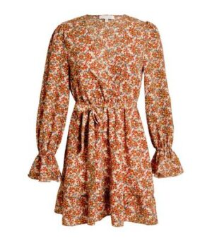 Another Look Red Floral Frill Dress New Look