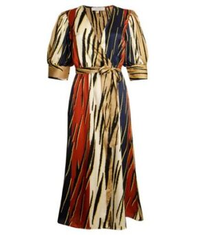 Another Look Multicoloured Stripe Wrap Midi Dress New Look