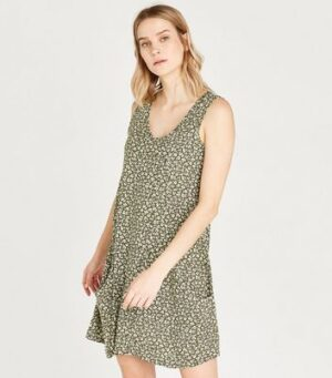 Apricot Olive Ditsy Floral Mini Dress New Look