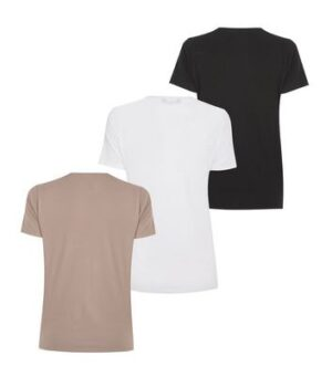 3 Pack Black Jersey Crew Neck T-Shirts New Look