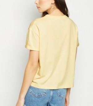 Pale Yellow Sorry I Was On Mute Slogan T-Shirt New Look