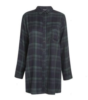 Wednesday's Girl Navy Check Shirt Dress New Look