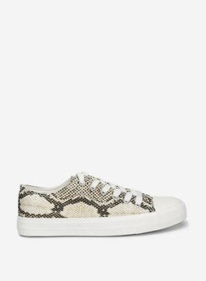 Womens Multi Colour Snake Print 'Iconic' Trainers - Animal, Animal