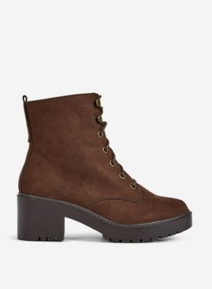 Womens Wide Fit Chocolate 'Adela' Boots - Brown, Brown
