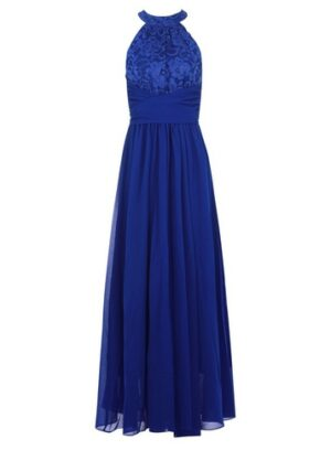 Womens Jolie Moi Royal Blue Lace Maxi Dress, Blue