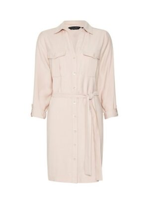 Womens Blush Utility Shirt Dress - Pink, Pink