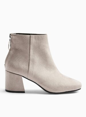 Womens Brixton Grey Ankle Boots, GREY