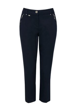 **Tall Navy Cotton Cropped Trouser, Navy