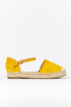 **Wide Fit Yellow Espadrille Sandal, Yellow