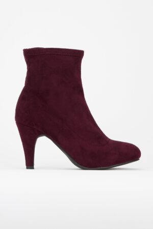 **Berry Sock Ankle Boot, Berry