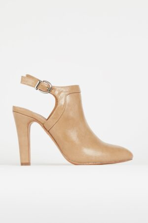 Nude Slingback Shoe Boot, Neutral