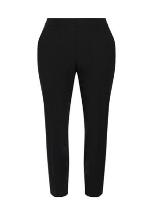 Black Workwear Tapered Trousers, Black