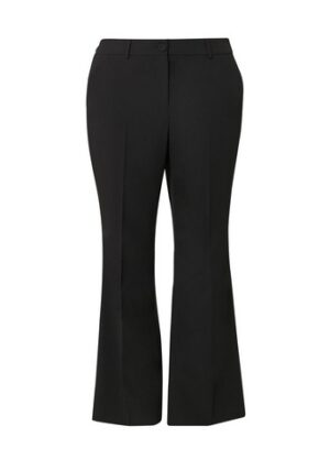 Black Boot-Cut Trousers, Black