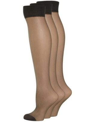 3 Pack Nearly Black Knee High Stockings, Nearly Black