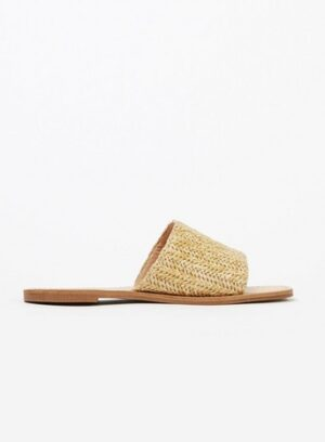 Extra Wide Fit Nude Weave Slip On Sandals, Nude