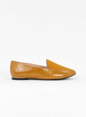 Extra Wide Fit Mustard Loafers, Mustard