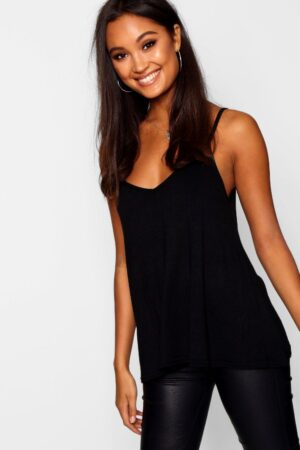 Womens Basic Swing Cami - Black - 16, Black