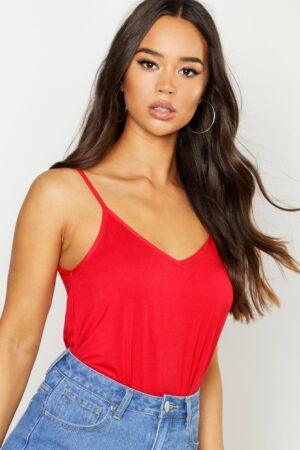 Womens Basic Swing Cami - Red - 14, Red