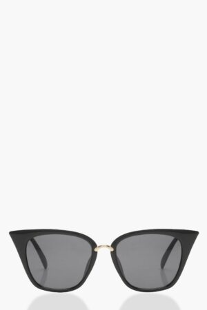 Womens Square Cat Eye Sunglasses - Black - One Size, Black