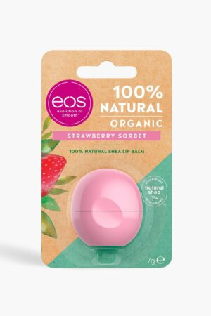 Womens Eos Organic Strawberry Sorbet Lip Balm - Pink - One Size, Pink