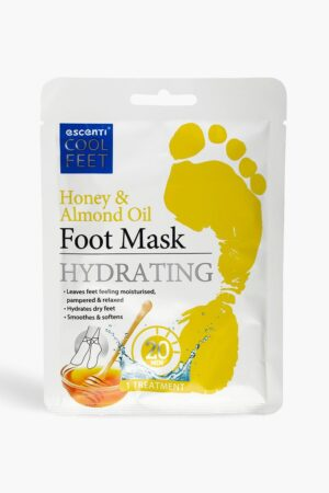 Womens Escenti Cool Feet Honey & Almond Foot Mask - White - One Size, White