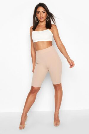 Womens Contoured Cycling Shorts - Beige - 12, Beige
