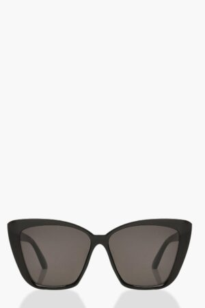 Womens Oversized Pointed Square Sunglasses - Black - One Size, Black