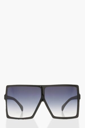 Womens Oversized Square Smoke Lens Sunglasses - Black - One Size, Black