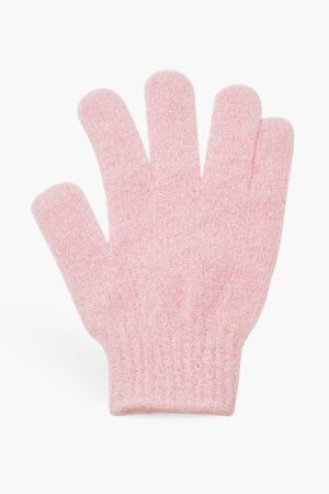 Womens Boohoo Exfoliating Tan Remover Mitt - Pink - One Size, Pink