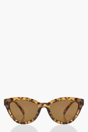 Womens Tortoiseshell Chunky Oversized Sunglasses - Brown - One Size, Brown