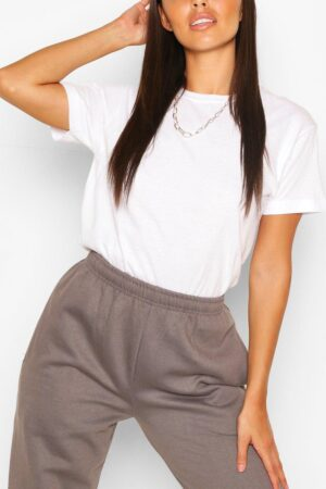Petite Plain Tee In Cotton - White - L, White